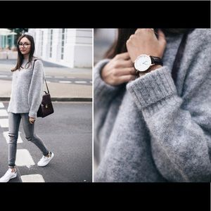 H&M Gray Mohair Sweater